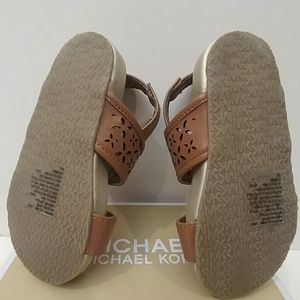 55425608f9d4 MICHAEL Michael Kors Shoes - Michael Kors Cognac sandals w  gold flowers